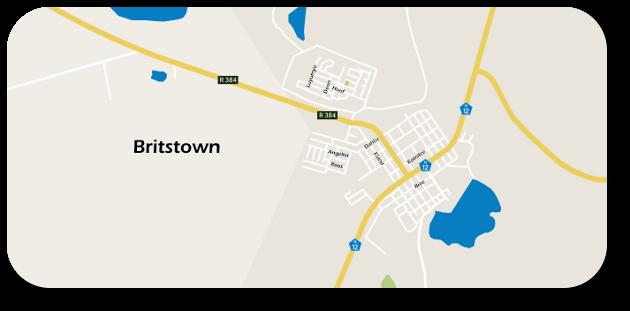 Britstown map