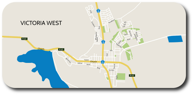 Victoria West map