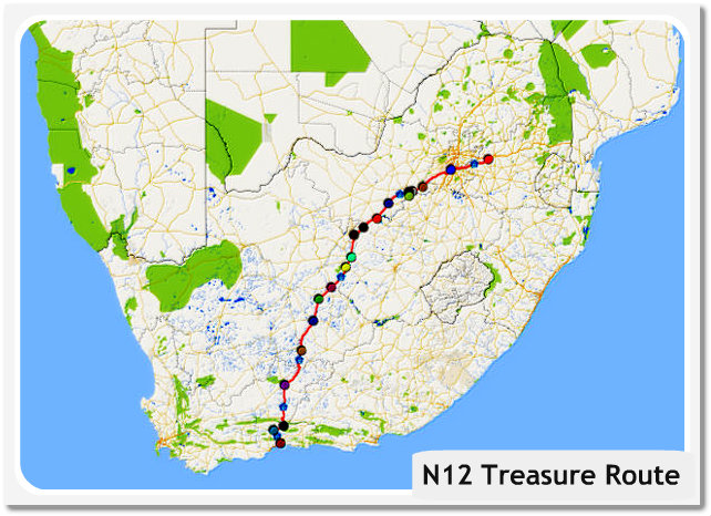 N12 Treasure Route map